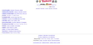 L'annuaire Yahoo en 1998