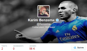 Compte Twitter officiel de Karim Benzema