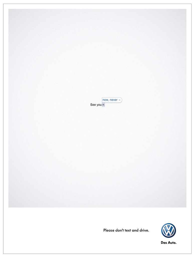 Sécurité routière Volkswagen - Please don't text and drive