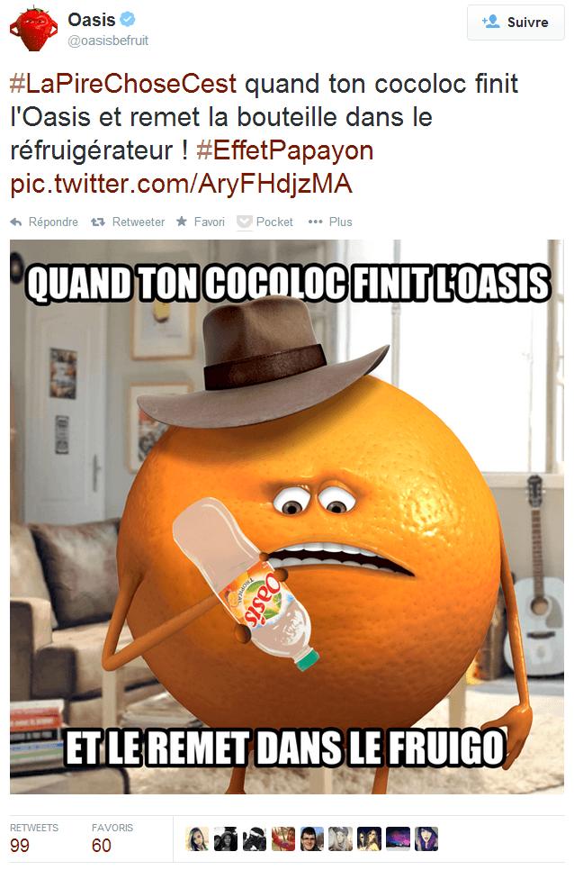 Twitter Oasis be fruit