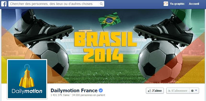 Coupe du Monde 2014 célébrée par Dailymotion France