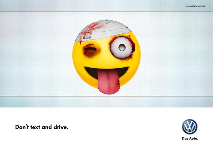 Eviter SMS pendant la conduite (sécurité routière de Volkswagen)