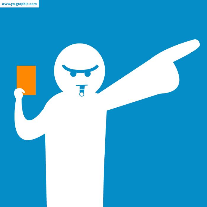 Carton rouge de l'arbitre pour des pratiques énervantes dans Twitter