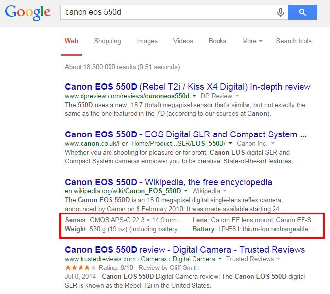 Les Structured Snippets de Google, une bonne nouvelle ?