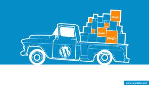 Blog chargé de plugins WordPress