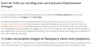 Optimisation des images pour avoir plus de trafic sur son blog