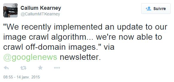 Le tweet d'un utilisateur qui signale le message de Google News