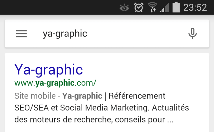 Compatibilité mobile Google