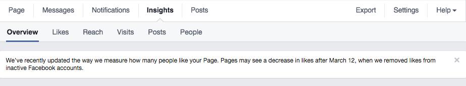 L'annonce de Facebook