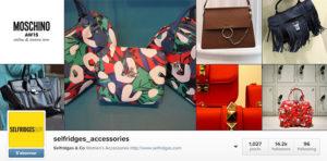 Selfridges & Co : accessoires pour femmes dans Instagram