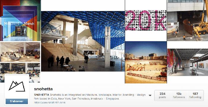 Snøhetta : agence d'architecture dans Instagram