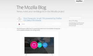 Le blog de Mozilla créé sous WordPress