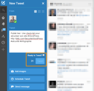 Option de confirmation dans TweetDeck
