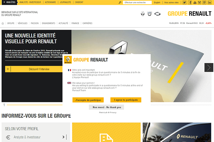 Le groupe Renault a choisi le CMS WordPress