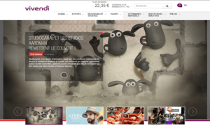 Le groupe Vivendi utilise le CMS WordPress pour son site.