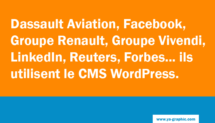 Ils utilisent le CMS WordPress