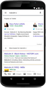 Tweets affichés en temps réel dans Google Search