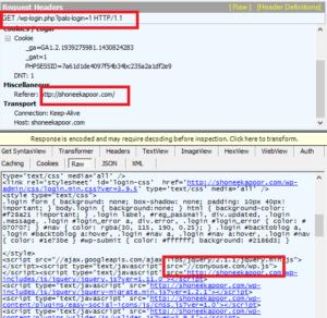 Processus de vol d'identifiant et de mot de passe dans WordPress