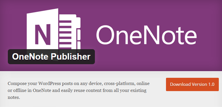 L'extension OneNote pour WordPress