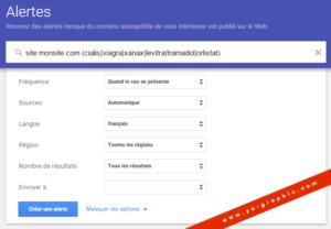 Google Alertes : être alerté en cas de site WordPress piraté