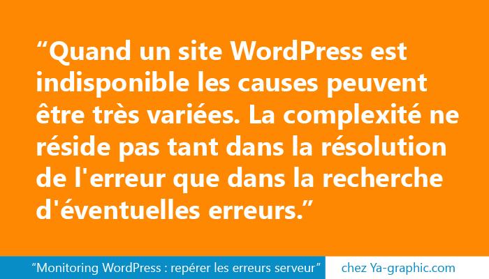Monitoring WordPress : repérer les erreurs serveur