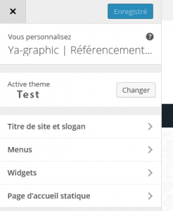 Personnaliser WordPress 4.3