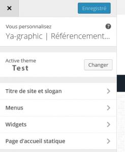 Personnaliser WordPress 4.3