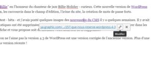 Editer un lien dans WordPress