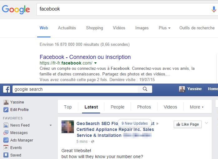 Facebook Search Vs Google Search