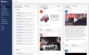 Signal de Facebook, outil de veille pour journalistes