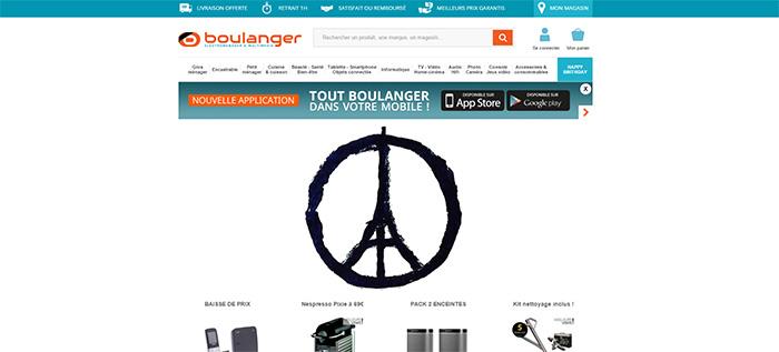 Boulanger affiche le ruban noir dans sa boutique en ligne
