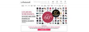 La Redoute affiche le ruban noir dans sa boutique en ligne