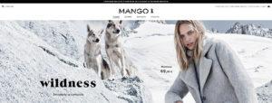 Mango affiche le ruban noir dans sa boutique en ligne