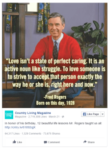 Post Facebook Mr Rogers