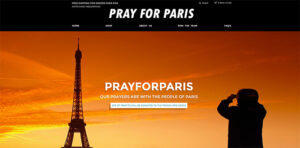 Le site marchand Pray For Paris