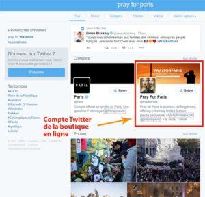 Pray For Paris dans Twitter