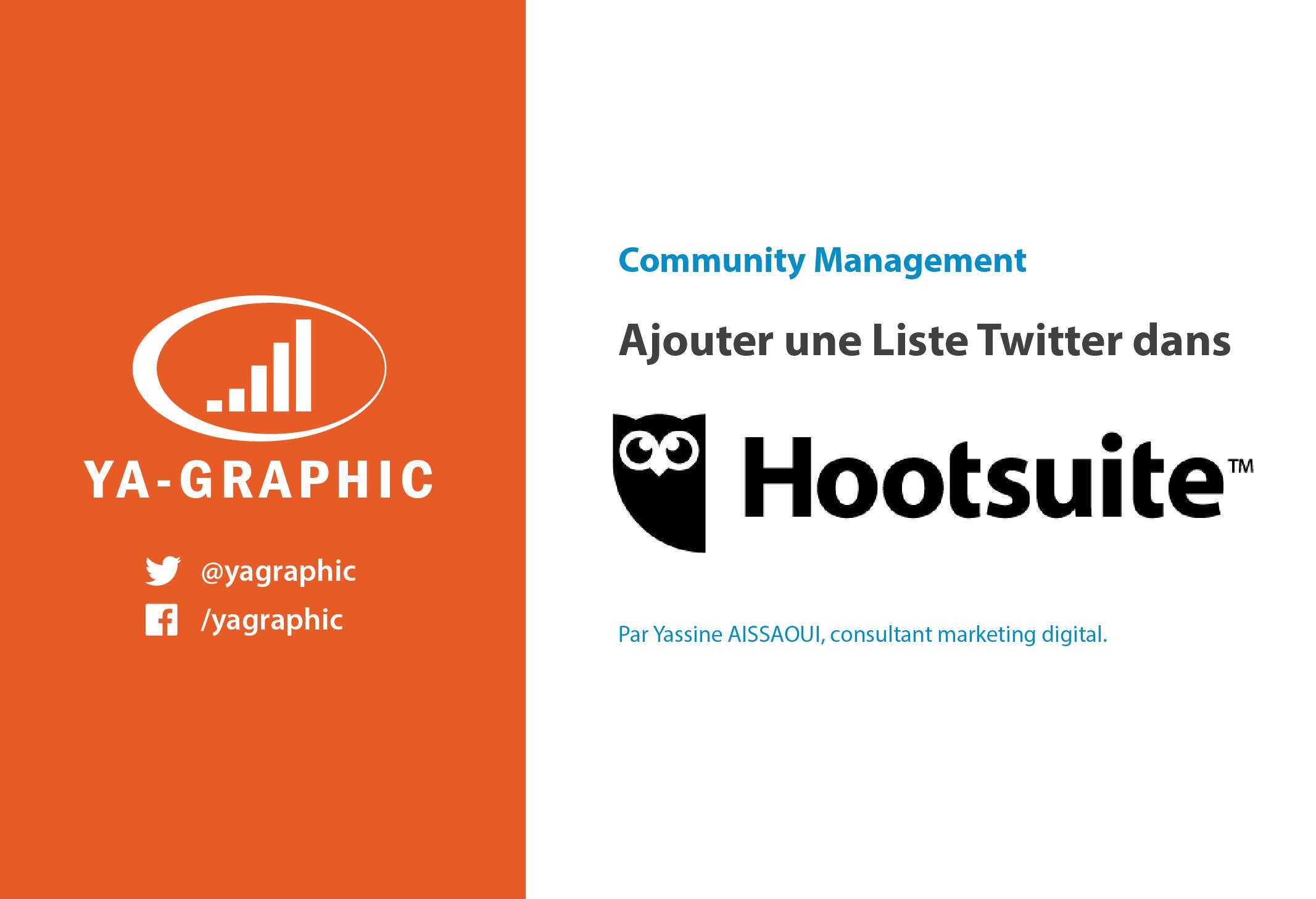 Ajouter une Liste Twitter dans Hootsuite