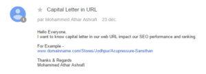 Référencement Google : la question des lettres capitales dans les URL d'un site