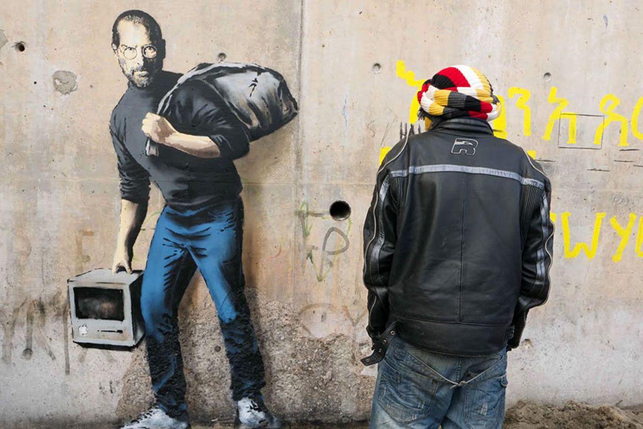 Steve Jobs, fresque de Banksy