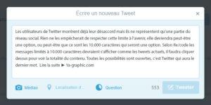 Limite des 140 caractères annulée dans Twitter ?