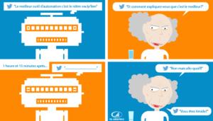 Conversation dans Twitter avec un compte robot