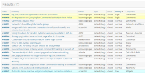 17 bugs corrigés (WordPress 4.4.2)