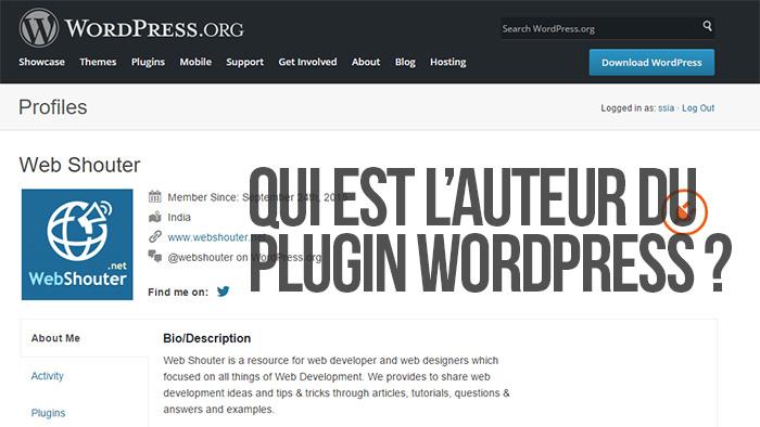 Qui est l'auteur du plugin WordPress ?