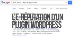 E-réputation d'un plugin WordPress dans un moteur de recherche