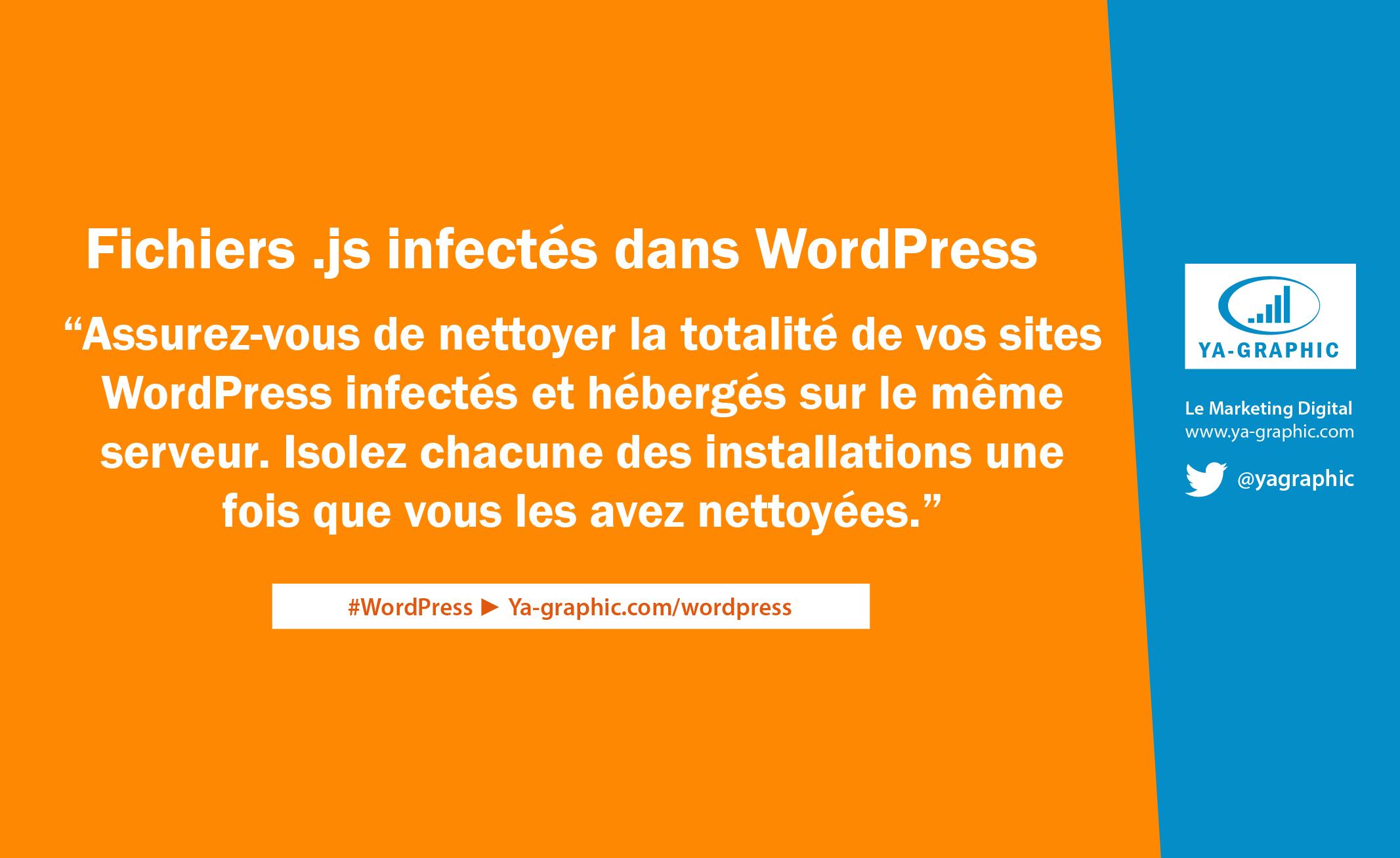 Fichiers Javascript infectés