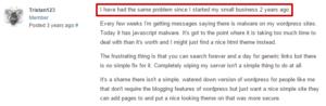 Utilisateur de WordPress piégé par un malware