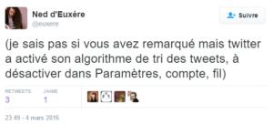 Fronde anti algorithme dans Twitter