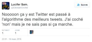 Utilisateurs contre l'algorithme dans Twitter