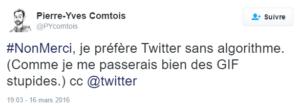 Anti algorithme dans Twitter