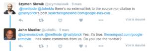 John Mueller confirme que le PageRank de la barre d'outils sera supprimé